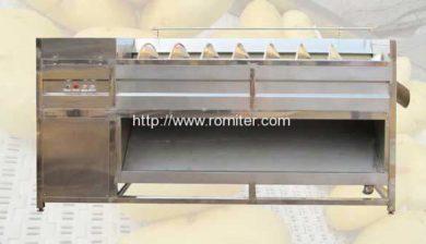 Screw-Feeding-Type-Potato-Washing-Peeling-Machine-Manufacture